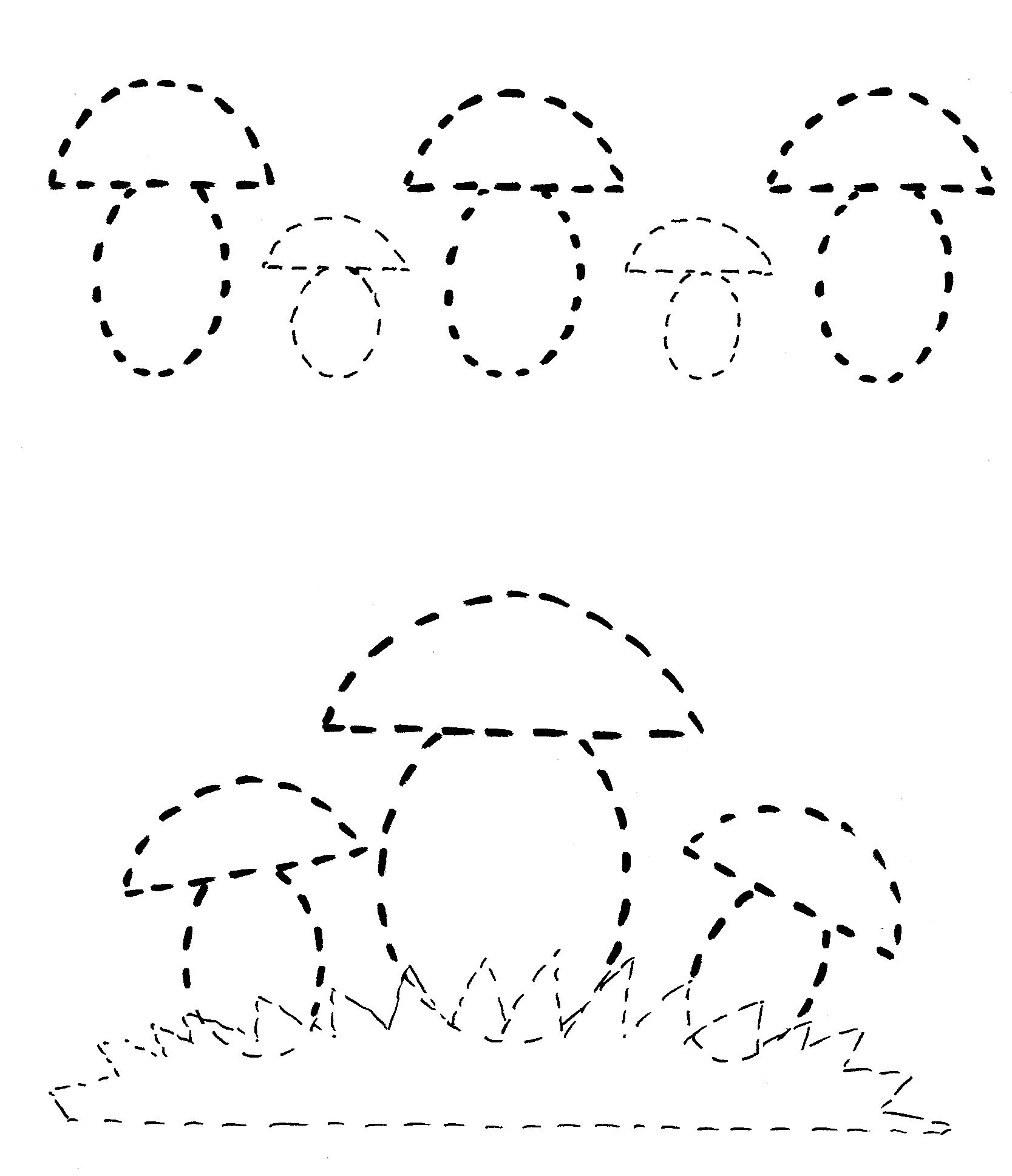 Раскраски с пунктирами для детей